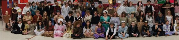 5th and 6th grade Social Studies students perform as important historical figures.