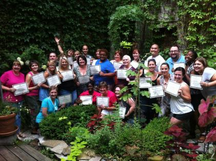 The 2012 Junior Theater Teaching Intensive Grads! We spent a weekend in NYC learning how to put on a musical.