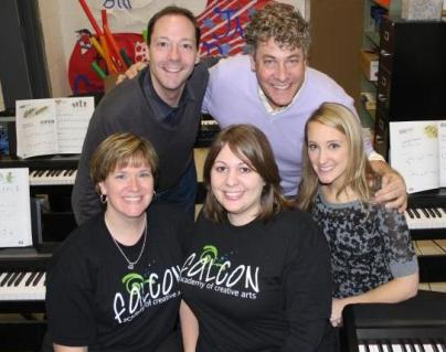 Laura, Jess and I with Tim and Steven from itheatrics with the NBC's Smash: Make a Musical Program.